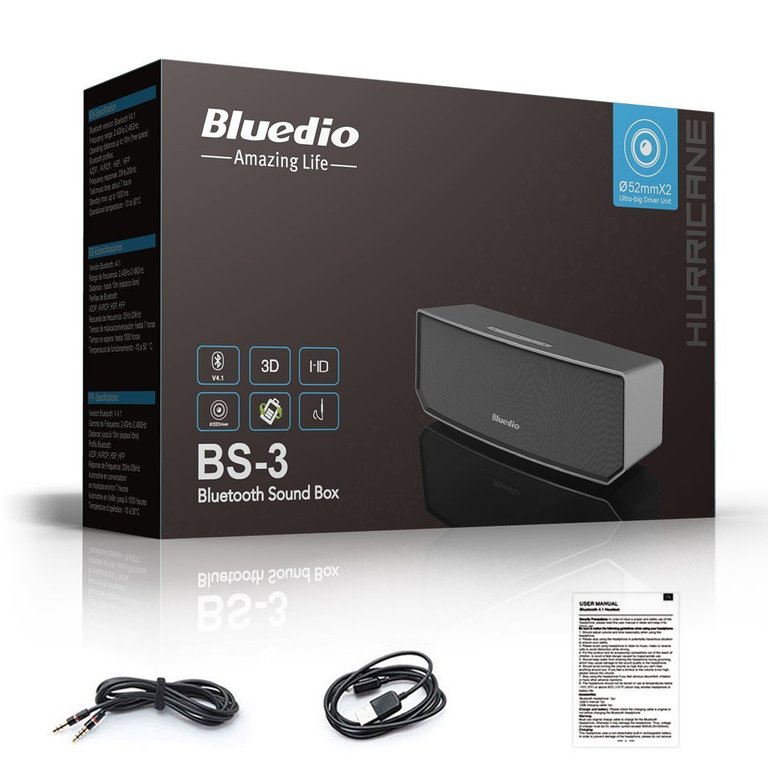 Bluedio BS-3 (Camel) Portable Bluetooth speakers Revolution 3D Audio Neodymium magnets